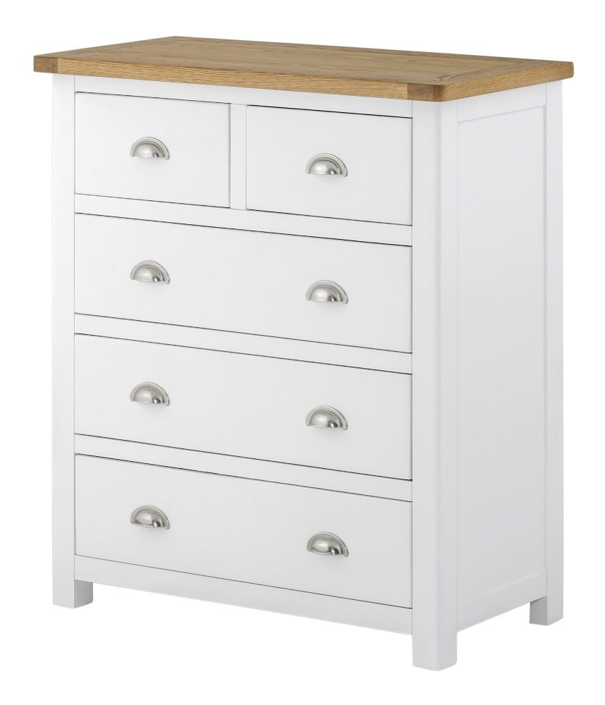 Northport White 2 over 3 Chest of Drawers