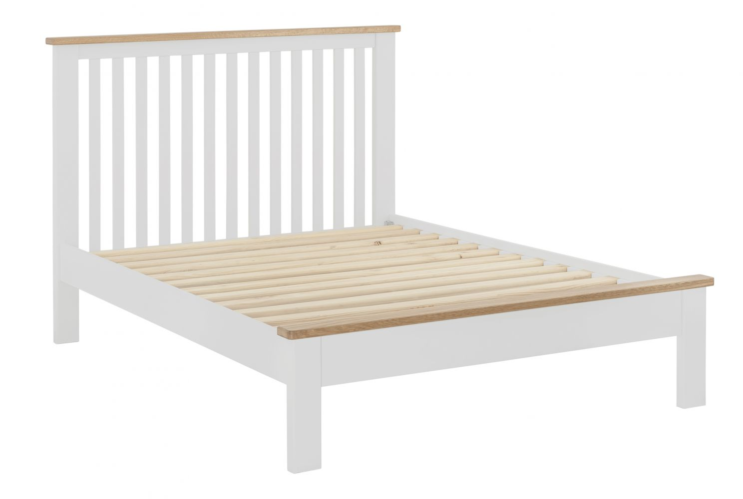 Northport White Double Bed