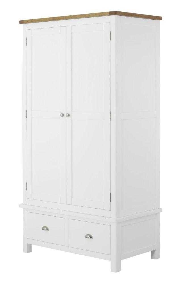 Northport White Double Wardrobe with Drawers