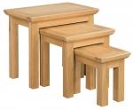 Siena Oak Nest of 3 Tables