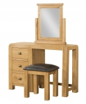 Avon Oak Dressing Table With Stool