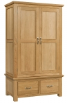 Siena Oak Double Wardrobe with Drawers