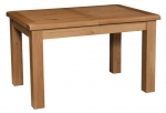 Suffolk Oak 4 4  x 3  extending dining table - 2 leaves