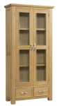 Siena Oak Display Cabinet
