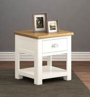 Thumbnail Northport White Lamp Table with Drawer