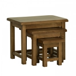 Rustic Oak Small Nest of Tables