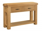 Clovelly Oak 2 Drawer Console Table