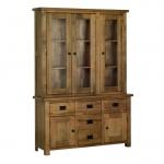 Rustic Oak 4 6  Glazed Dresser