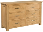 Siena 6 Drawer Wide Chest of Drawers