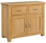 Siena Oak 2 Drawer 2 Door Sideboard