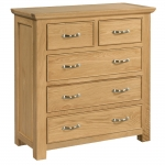 Siena Oak 2 over 3 Chest of Drawers