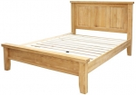 Chunky Oak Double Bed