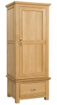 Siena Oak Single Wardrobe with Drawer