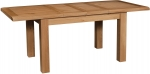 Suffolk Oak 6  x 3  extending dining table - 2 leaves