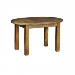 Rustic Oak Small D End Flip Top Extending Table