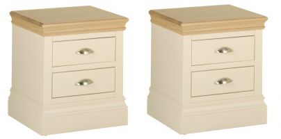 2 x Lundy 2 Drawer Bedsides