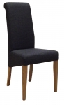 New Oak Charcoal Fabric Dining Chair