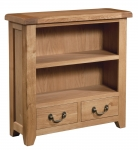 Suffolk Oak low bookcase with drawers