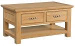 Siena Oak Coffee Table With Drawers