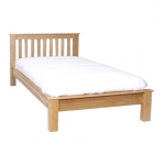 New Oak 4 6  bed - Low Footboard