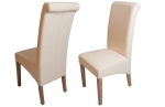 Oxford Leather Dining Chair - Cream