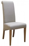 New Oak Beige Fabric Dining Chair