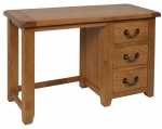 Suffolk Oak single pedestal dressing table