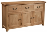 Suffolk Oak 3 door 3 drawer sideboard