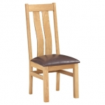 New Oak Arizona Twin Slat Chair