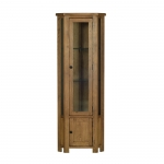 The Rustic Oak Corner Display Unit