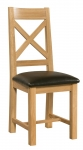Siena Oak Cross Back Dining Chair