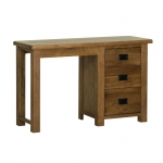 Rustic Oak Single Pedestal Dressing Table