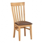 New Oak Toulouse Curved Back Chair