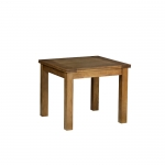 Rustic Oak 3  x 3  Square Flip top Extending Table
