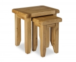 North Bay Oak Nest of 2 Tables
