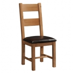 Rustic Oak Ladder Back Dining Chair