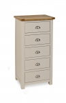 Portland Stone 5 Drawer Slim Chest