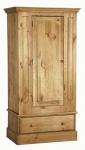 Welland Pine 1 Door Wardrobe with Drawer