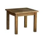 Rustic Oak 3  x 3  Fixed Top Table