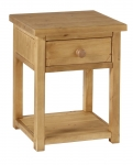 Chunky Pine 1 drawer bedside  night stand