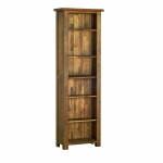 Rustic Oak 6  Narrow Bookcase