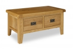 North Bay Oak Coffee Table with Drawers