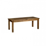 Rustic Oak 6 8  x 3  Extending table with two leaves