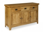 North Bay Oak 3 Door 3 Drawer Sideboard