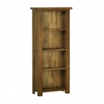 Rustic Oak 5  Narrow Bookcase