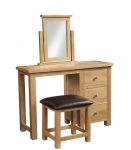 Dorset Oak Dressing Table with Stool