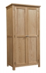 Dorset Oak Double Full Hanging Wardrobe