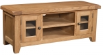 Suffolk Oak large TV unit