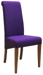 New Oak Purple Fabric Dining Chair