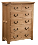 Suffolk Oak 2 over 4 chest of drawers